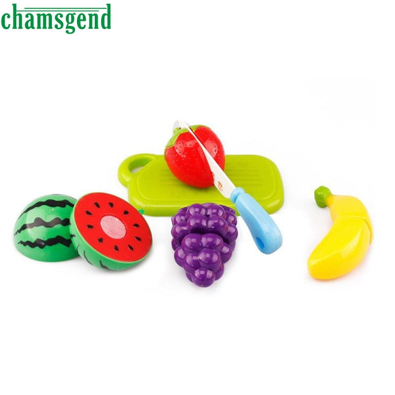 6PC Fruit Vegetable Cutting Pretend Play Kid Educational Toy Gift Levert Dropship N11111