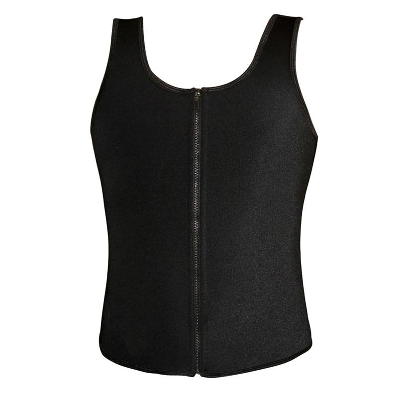 Latex Waist Cincher Men Rubber Bone Hot Fat Burning And Control Slimming Fit Vest Body Shaper Zipper Close Underwear Bustier 6XL