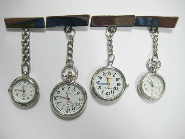 Wholesale lost 10pcs mixed type nurse doctor Brooch pocket watch
