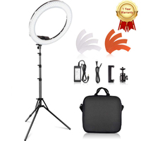 Travor 18 inch photography ring lamp 55W round lamp 3200K 5500K 240 Leds Makeup Ring Light Lamp For Camera Photo Studio Phone