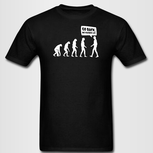 b2b9d129 Human evolution printed tshirt men creative t shirts customized t shirt for  men and women 100 custom couples clothes-in T-Shirts from Men's Clothing on  ...