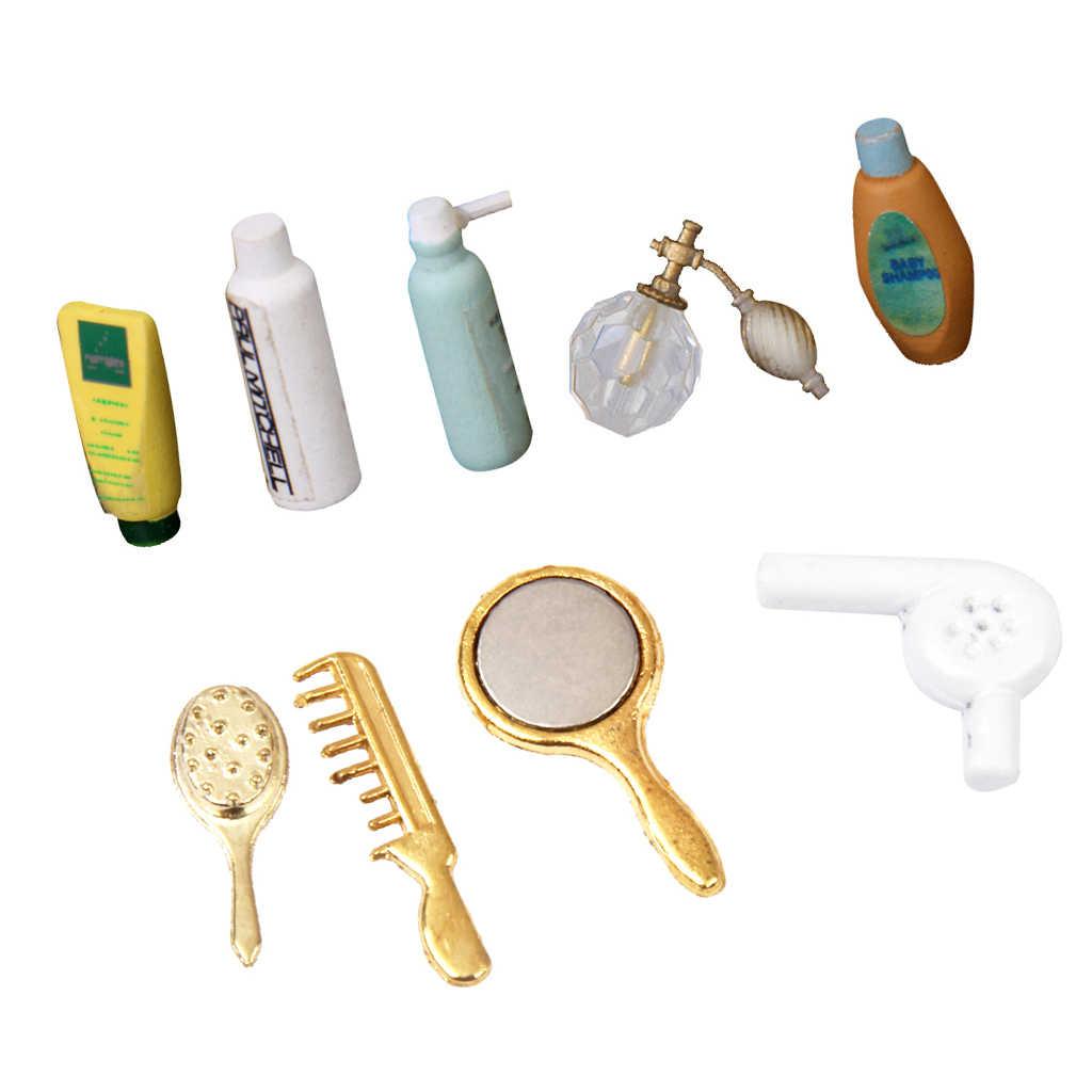 MagiDeal Кукольный миниатюрный набор шампуней для ванной, туалетно-косметический набор для ванной, парфюмерный шампунь, аксессуар для ванной и душа, декоративный набор