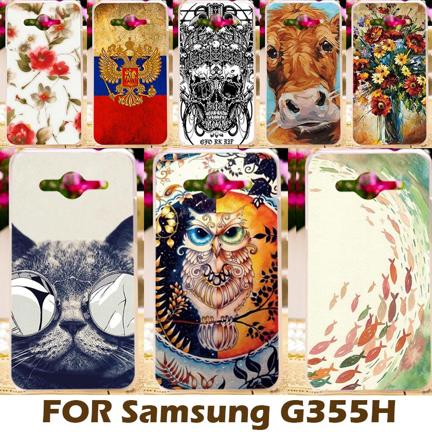 Galleria fotografica AKABEILA Cases <font><b>Covers</b></font> For Samsung Galaxy Core II 2 G355M duos G355H Core2 G355 G3556D Core 2 G3559 G3558 <font><b>Cover</b></font> Shell Skin