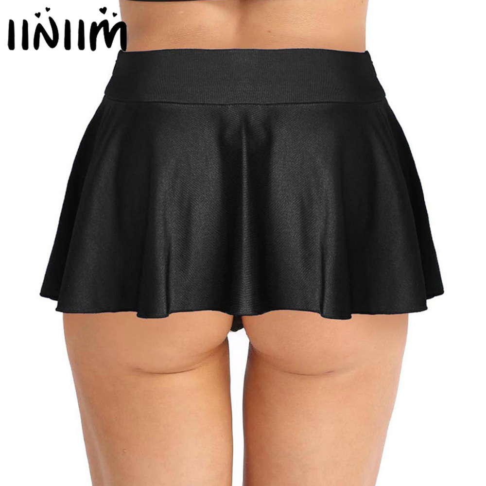Fashion Womens Sexy Clubwear Miniskirts Stretchy Active Mini Shorts With Inner Shorts Covered Lightweight Skirts For Performance