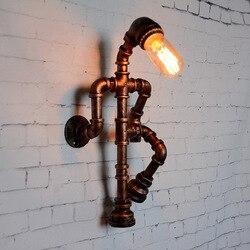 Kreatywny kutego żelaza wodociąg kinkiet korytarz cafe bar restauracja retro dekoracyjne światła oczu światła WF5091006