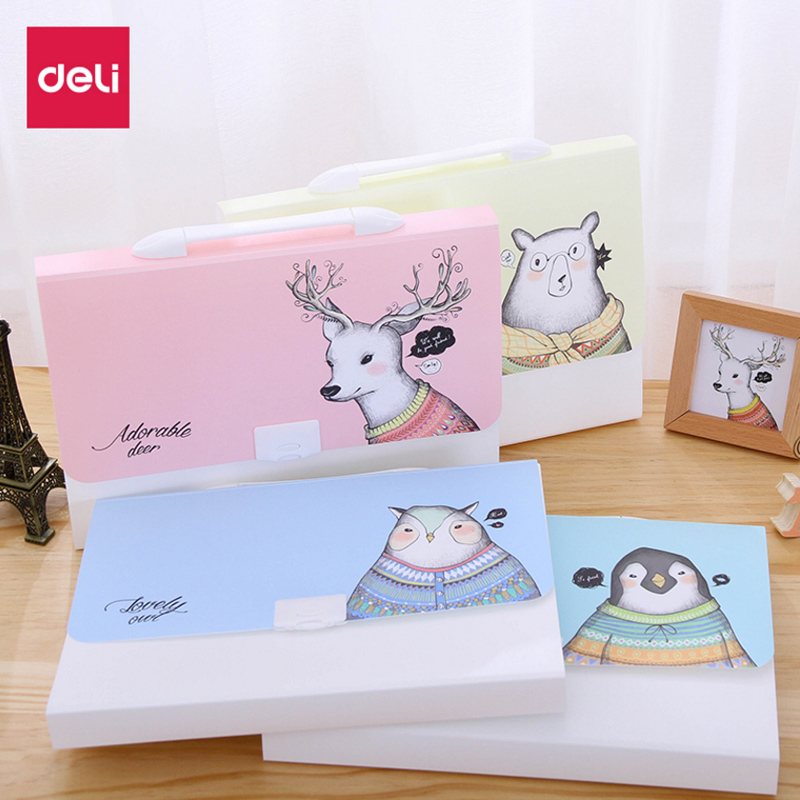 Free shipping folder multifunctional a4 file bag candy pp file folder data book orgnan bag office supplies Deli 72386_02 free shipping business office school stationery products data volumes inset bag a4 loose leaf carpetas folder pasta escolar002