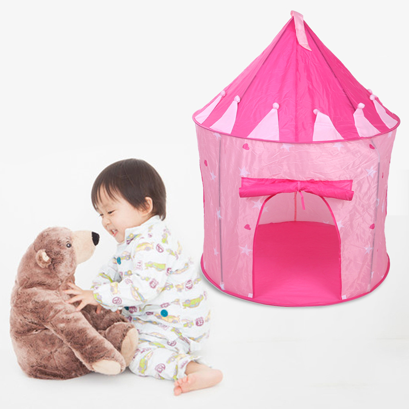 Pink Play House Tent for Children Playhouse Portable Pop Up Play Tent Kids Girl Princess Castle