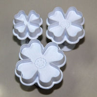 Free shipping high quality 3pcs Cover plunger cutter set for cake decorating cake tools set
