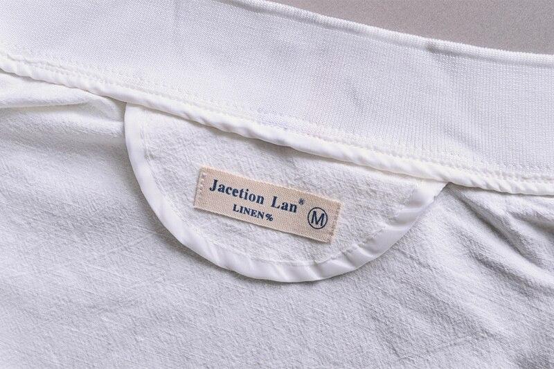 Printemps Automne Italie slim fit veste hommes lin blanc vêtements - Vêtements pour hommes - Photo 3