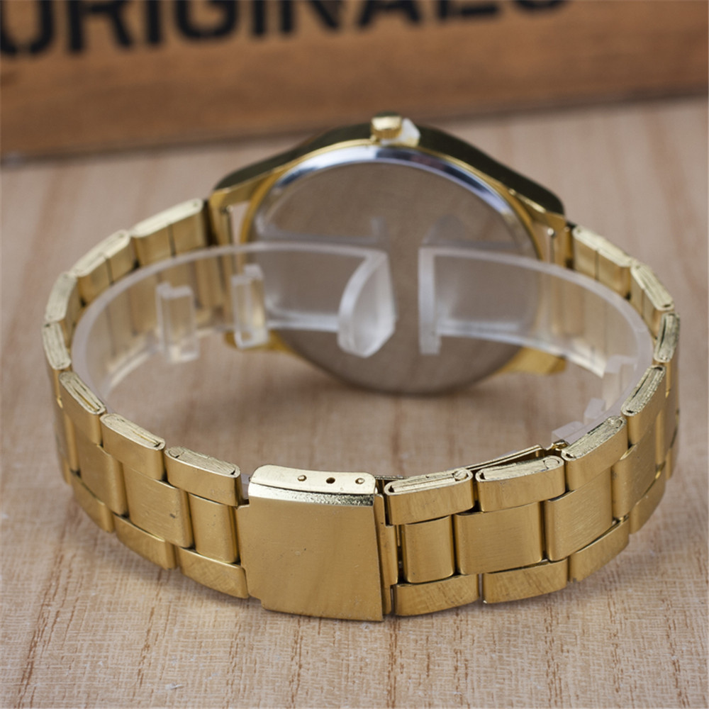 2019 New Famous Brand Women Gold Geneva Litchi Stainless Steel Quartz - Dameshorloges - Foto 3