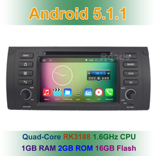 Android 5.1.1 Car DVD Player for BMW X5 E39 E53 with Radio WiFi Bluetooth GPS N avigation