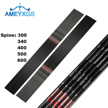 12Pcs 30 32 Archery Pure Carbon Arrows Shaft SP300-600 ID6.2mm Arrow Shafts DIY Tools For Hunting Shooting Accessories