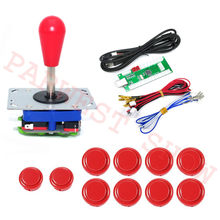 1 Player Zero Delay LED USB Controller Board to PC arcade kits for Jamma Fighting Games with Zippy Joystick+Sanwa style Buttons(China)