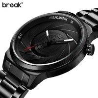 Break Unique Photographer Series Design Men Women Unisex Brand Wristwatches Sports Rubber Quartz Creative Casual Fashion