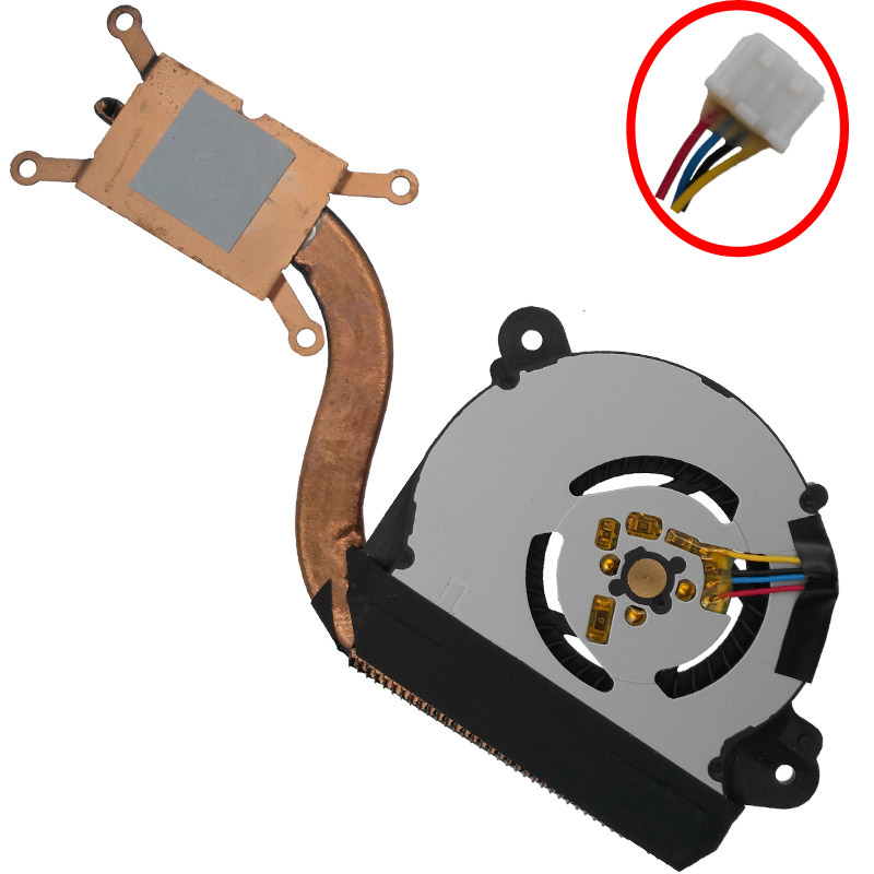 Brand Laptop Cooling Fan for ASUS VivoBook S200E with Heatsink EF50050S1-C170-S99 AB05105HX060B00 Replacement Repair new laptop keyboard for asus g74 g74sx 04gn562ksp00 1 okno l81sp001 backlit sp spain us layout