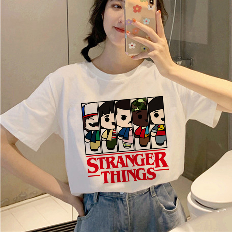 Stranger Things 3 Harajuku   T     Shirt   Women Ullzang Upside Down   T  -  shirt   Eleven 90s Graphic Tshirt Friends Don'  t   Lie Top Tees Female