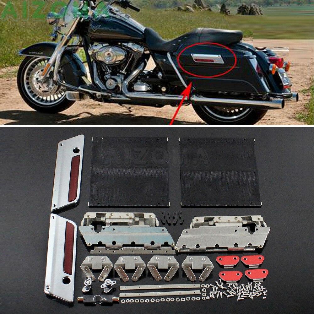 Kit de matériel de verrouillage de couvercle de verrouillage de moto sacs durs sacoches matériel pour Harley Touring Street Electra Road Glide FLHT FLHRC