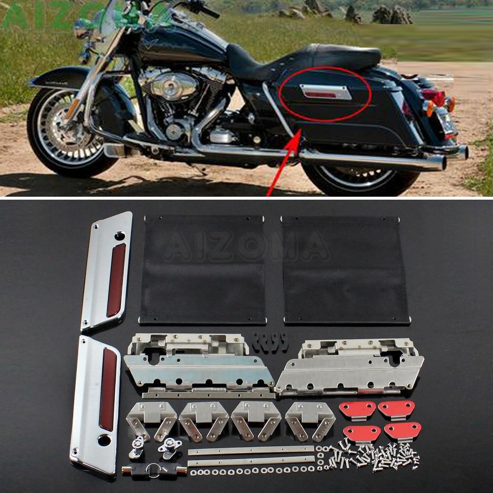 Hard Saddlebag Lid Led Spoiler Kit For Harley Touring Electra Street Road Glide Attractive Fashion Home
