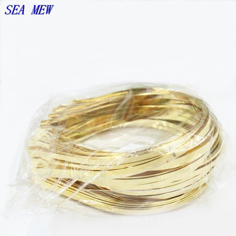 20 PCS 3mm 4mm 5mm 6mm 7mm Metal Steel Headband Gold Hair Band Hairwear Base Setting DIY Head Jewelry Bijoux De Tete For Women