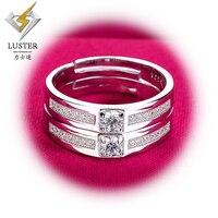 Синтетический желтый или белый moissanites 925 серебряные обручальные Обручальные кольца