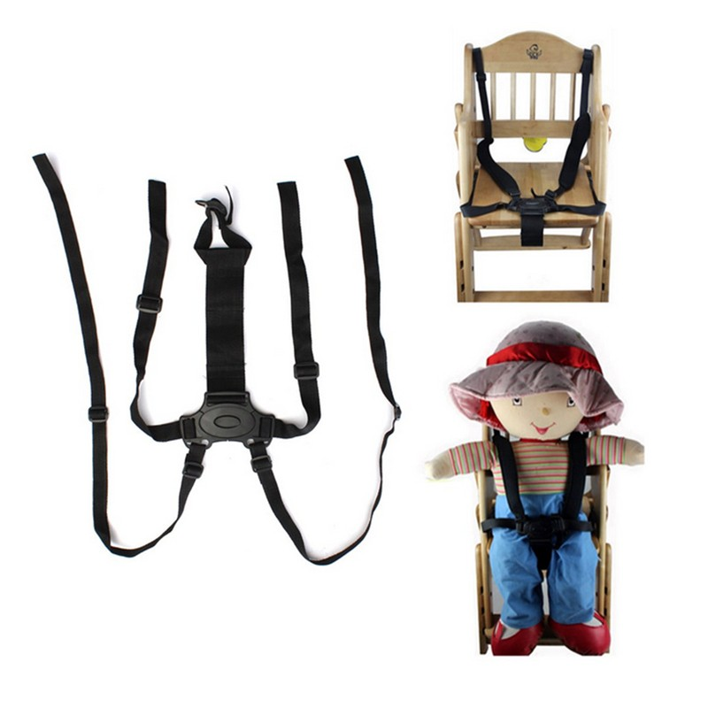 Child Tricycle Baby Stroller Seat Belts Dining Chair Bandage Buggiest Five Point Safety Belt