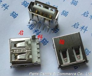 20pcs SMD Female USB Jack type-A Connector Socket Sink board for Chassis panel / others......Free Shipping