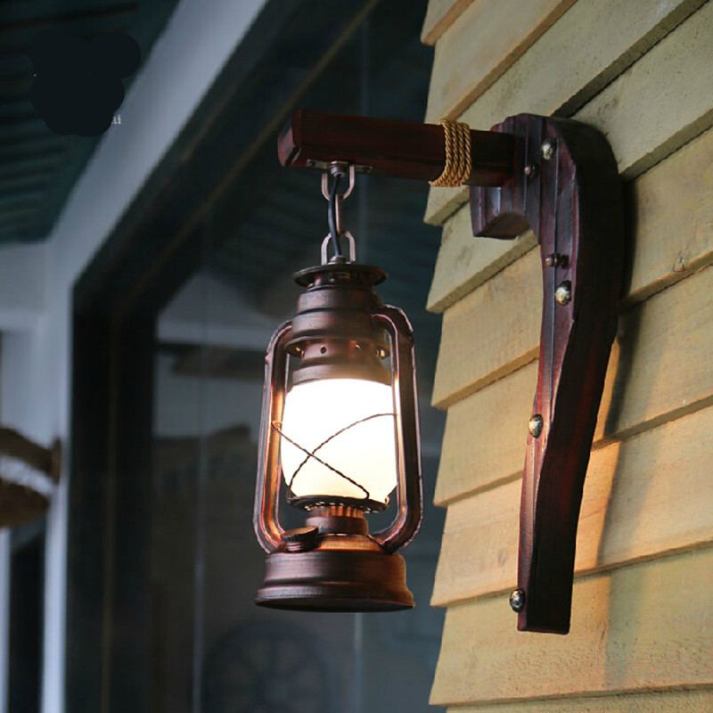 Indoor Wall Lantern Lights : Aliexpress.com : Buy Hand Crafted Vintage Bamboo Iron Lantern Led e27 Wall Lamp Creative Loft ...
