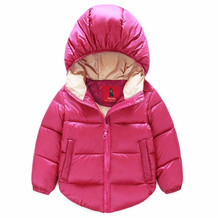 Hot ! ! In The Winter Of 2016The New Boy Girl White Duck Down Cotton-Padded Jacket Brand Fashionable Clothing Children's Coat