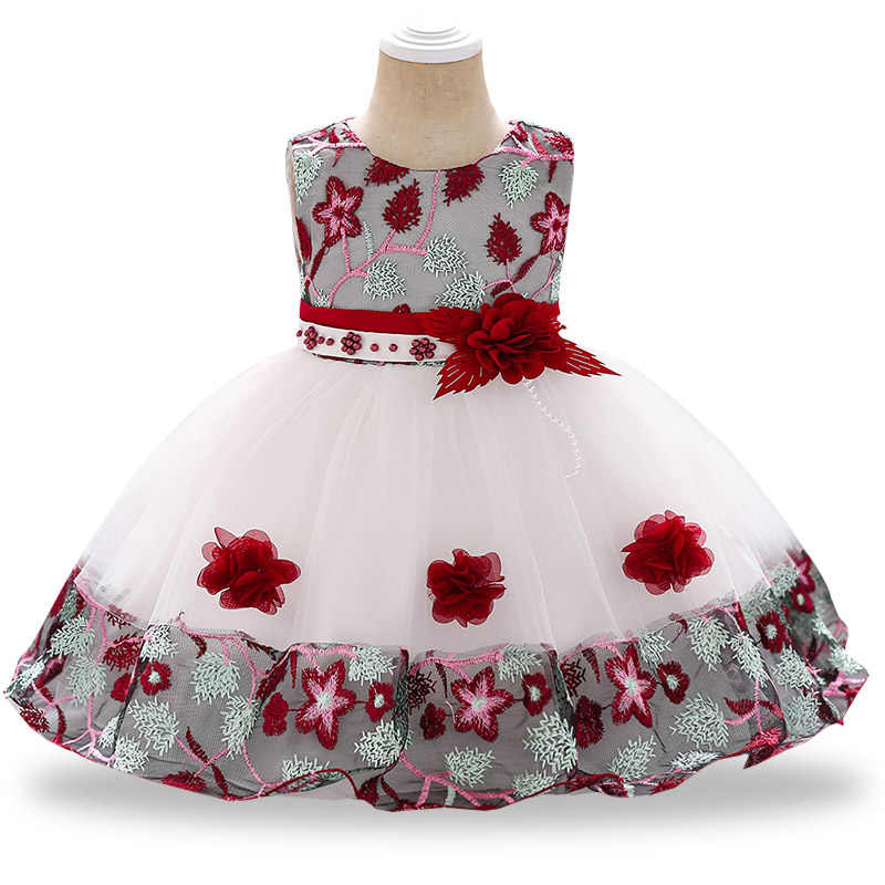 7448d89ea Summer newborn baby girls clothes kids dresses for girls 1 year birthday  party dress toddler flower