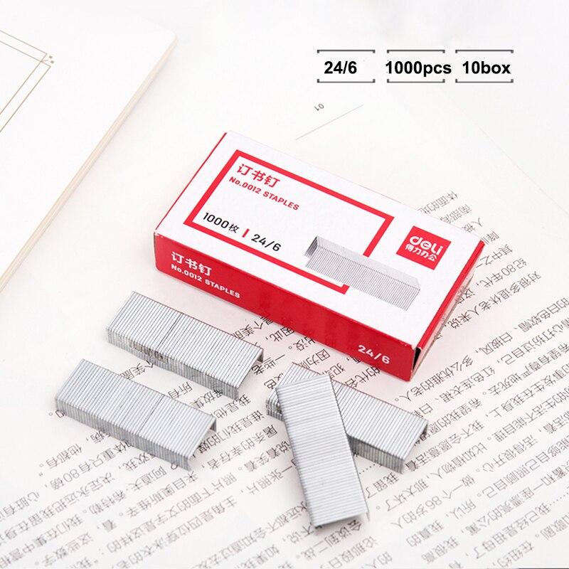 1000PCS No.12 12x6mm Staples Steel Staples For Office Stapler 24//6