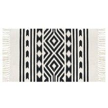 Винтаж персидский Стиль тканый коврик Ванная комната Гостиная ковер Геометрические Ручной работы индийский ковер полосатый Современный печати мат в богемном стиле