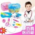 Alta calidad al por mayor de juguete jugar a las casitas Juguetes Kids Educational Pretend Doctor Doctor Caso Clásico Conjunto de Juguete