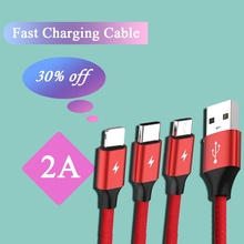 3 in 1 Charging Cable Micro USB Type C 8 pin USB Data line 1.2M Fast Charging date Cable for Xiaomi/ Huawei /Androi 3 in 1 type c micro usb 8 pin cable