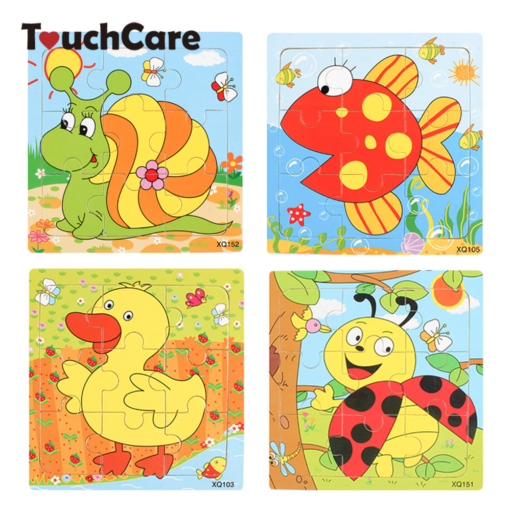 Cute Cartoon Animal Wooden Puzzle Intelligence Kids Educational Baby Toys Gift Brain Teaser Children Tangram Shapes Jigsaw Board wooden 3d puzzle jigsaw wooden toys for children cartoon animal puzzles intelligence kids children educational toy toys