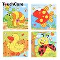 Cute Cartoon Animal Wooden Puzzle Intelligence Kids Educational Baby Toys Gift Brain Teaser Children Tangram Shapes Jigsaw Board