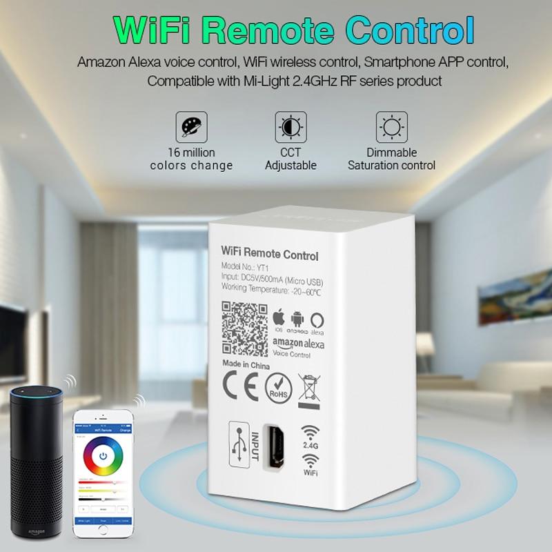 USB Led WiFi wireless Remote Control Amazon Alexa Voice Smartphone 4G App Control compatible Mi Light 2.4G RF series product 5V