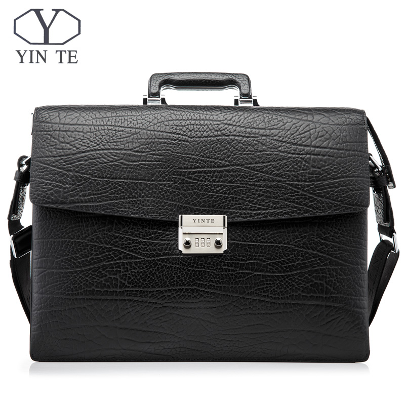 YINTE Fashion Men Briefcase Leather Men Bag Business Lawyer Case High Quality 15inch Laptop Messenger Portfolio Tote T8010-3YINTE Fashion Men Briefcase Leather Men Bag Business Lawyer Case High Quality 15inch Laptop Messenger Portfolio Tote T8010-3