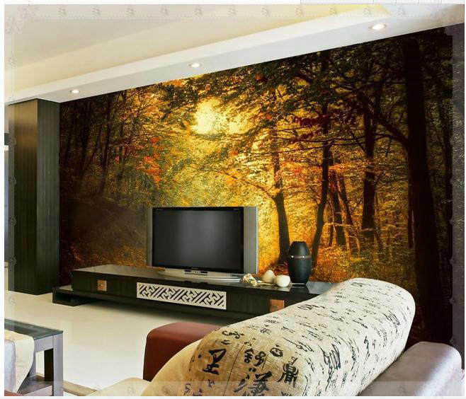 New large wallpaper custom wallpaper sunshine scenic woods mural wall paper papel de parede wall stickers 8723 wallpaper new yor in wallpapers from home