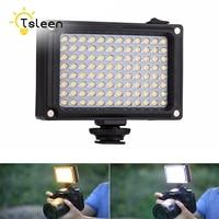TSLEEN 96 LED Phone Video Light Photo Lighting On Camera Hot Shoe Dimmable LED Lamp For