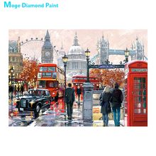 spotlight on paris Diamond Painting Full Round scenic portrait New DIY Sticking Drill Cross Embroidery 5D Oil painting style new paris style