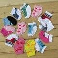 Meias infantis 2017 Novos 3 pairs Bebê Meias Bonitos Do Bebê Meninas meninos Acessórios Para Bebé 0-12 Meses meias infantil new born curto meias