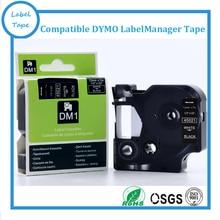 DYMO D1 12 мм Белый на Черном LabelManager метка ленты 45021 1/2 «w x 23′ dymo лента картридж для dymo профессиональные labelmakers