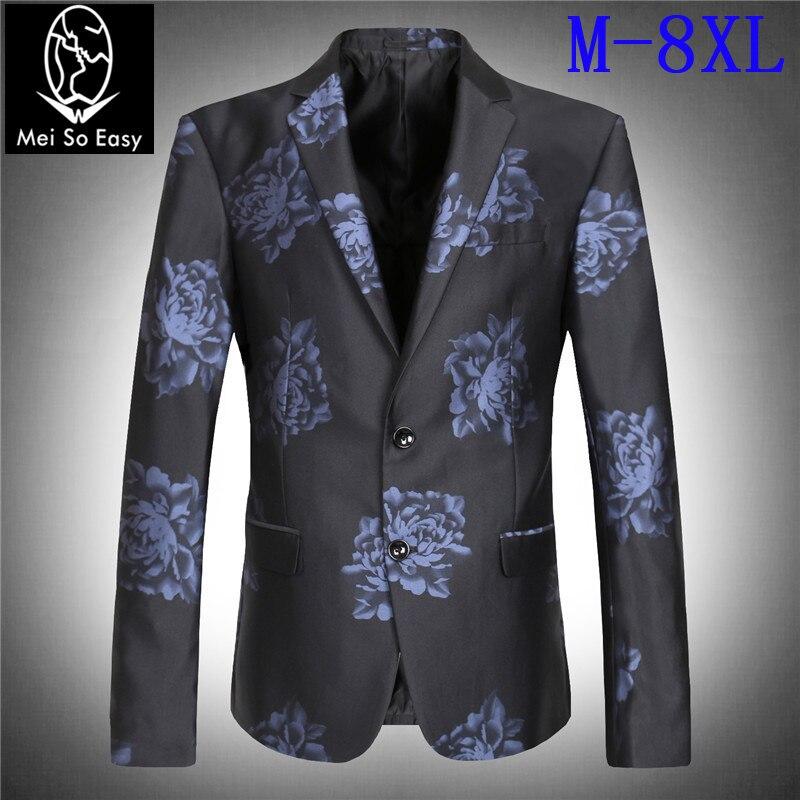 Taille 5xl 3xl flower Wholesell M blue Plus 7xl Grande Blazer 6xl Haute Obèses Qualité De B Flower Bouton 8xl Mariage Poids 4xl Super Veste Deux Kg La 180 A qxaURR