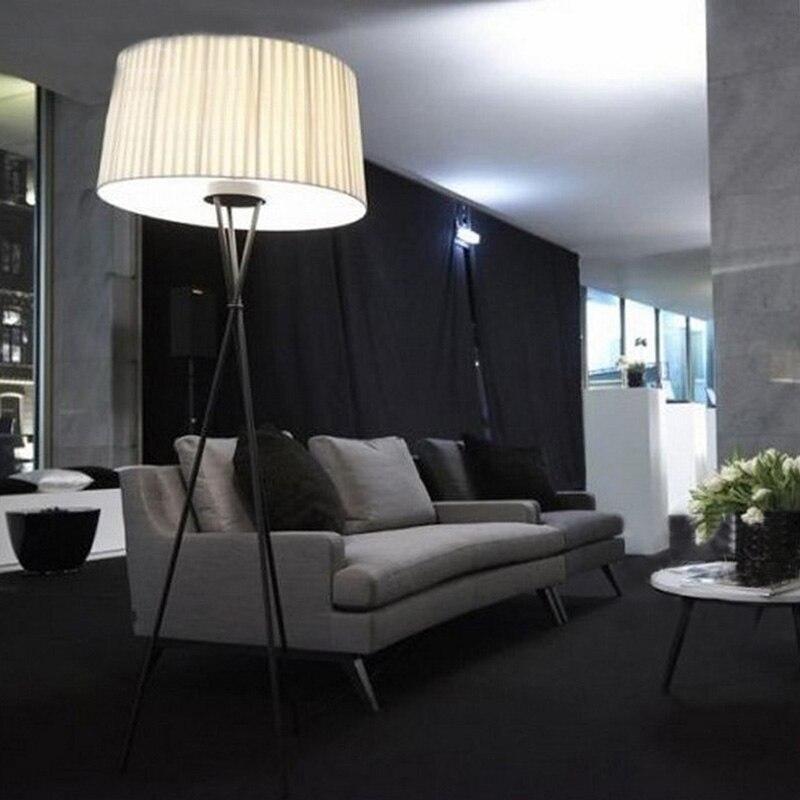 Nouveau moderne minimaliste 3 jambe trépied lampadaire tissu abat-jour créatif lampadaire pour salon se dresse lampes FL8 - 4