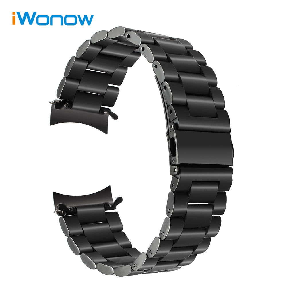 Curved Stainless Steel Watchband + Link Remover for Samsung Gear S3 Classic Frontier SM-R770 / R760 Smart Watch Band Wrist Strap смарт часы samsung galaxy gear s3 classic sm r770 1 3 super amoled серебристый sm r770nzsaser