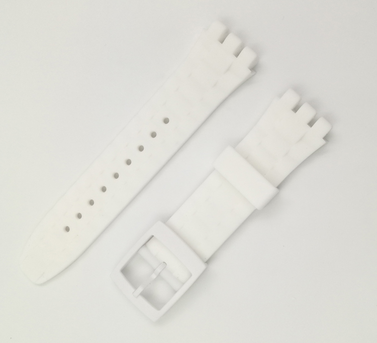 Купить с кэшбэком Color silicone strap for Swatch SUSB400 SUSR401 concavity 21mm watch accessories