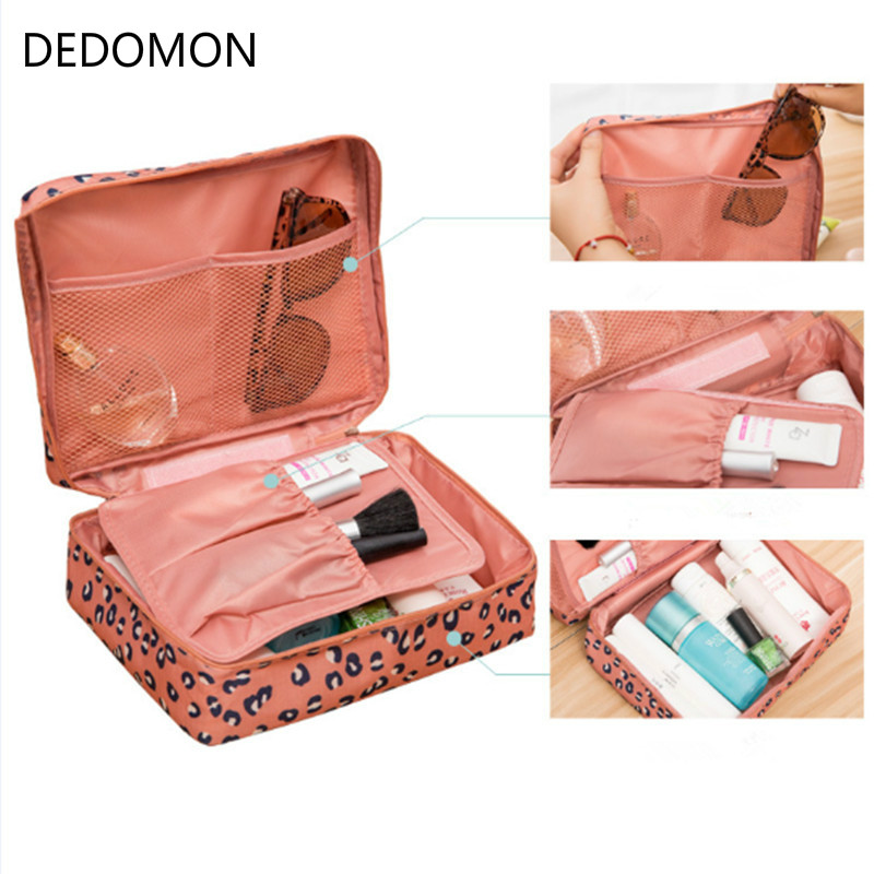 Waterproof Women Makeup Bag Cosmetic Bag Case Dot Beauty Case Make Up Purse Organizer Storage Travel Wash Pouch