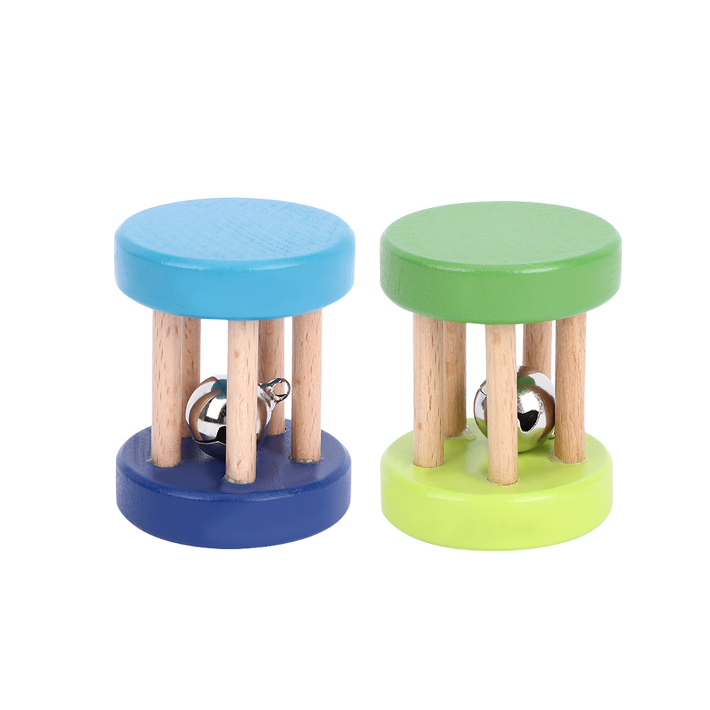 Baby Colorful Wooden Rattle Toy Hand Shake Bell Educational Toy  Baby Gripping Rattle Body Building Toys Kid Gift Random