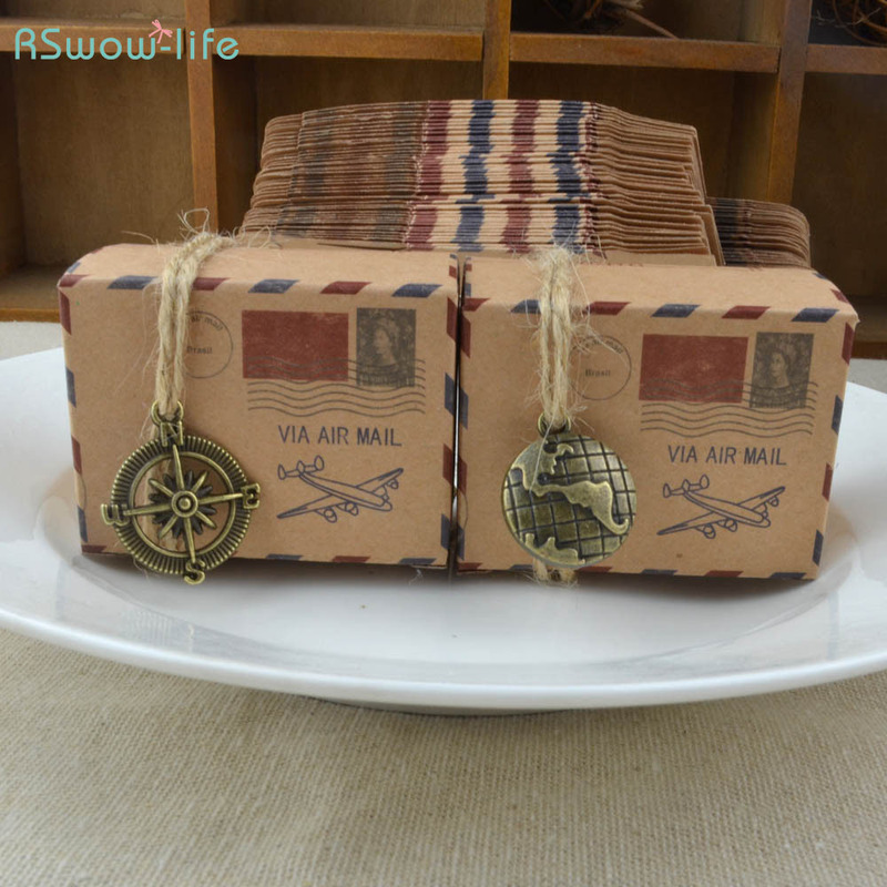 Packing Box Kraft Paper Candy Boxes Mail Plane Candy Box Chocolate Boxs For Gift Package For Friends