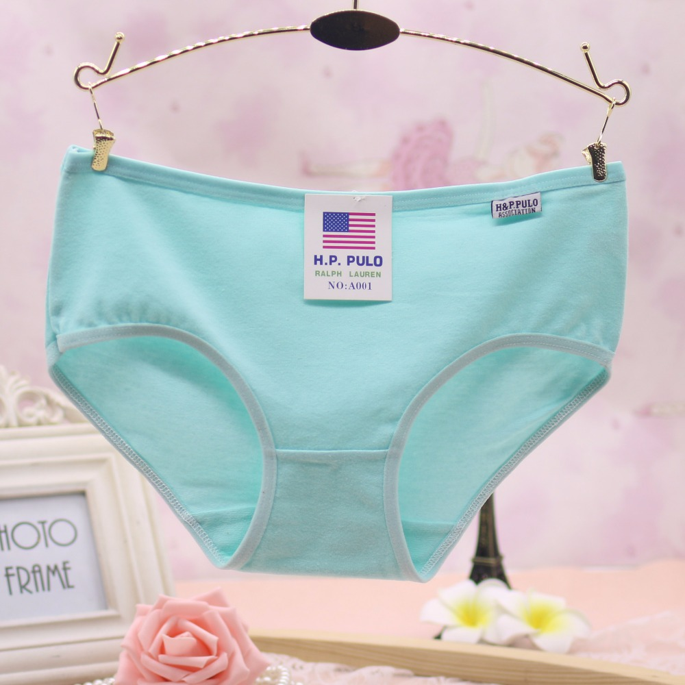 Buy Every Day Women's Cotton Underwears Mid Waist Briefs Ladies Panties Breathable Underpants Girls Knickers Female Candy Color